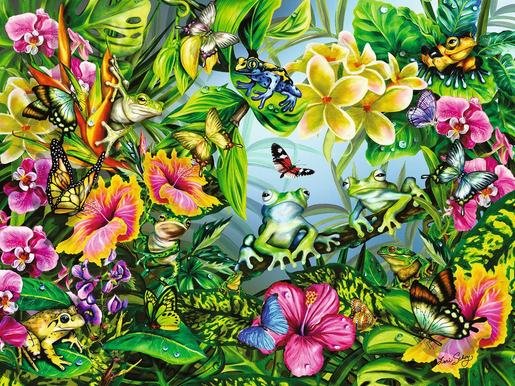 Find the Frogs - 1500pc Jigsaw Puzzle by Ravensburger NEW